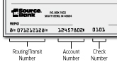 1st Source Bank Check Image
